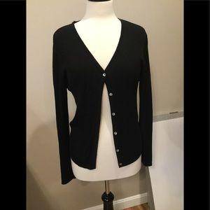 Long sleeve lightweight button down sweater.